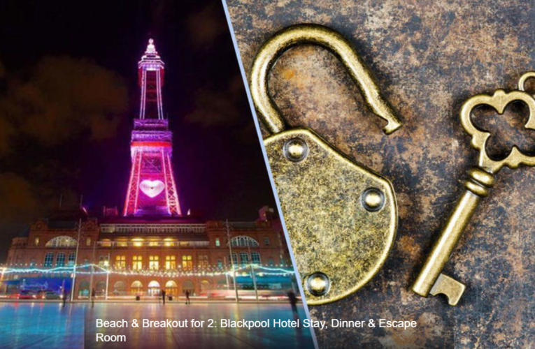 Beach & Breakout for 2: Blackpool Hotel Stay, Dinner & Escape Room
